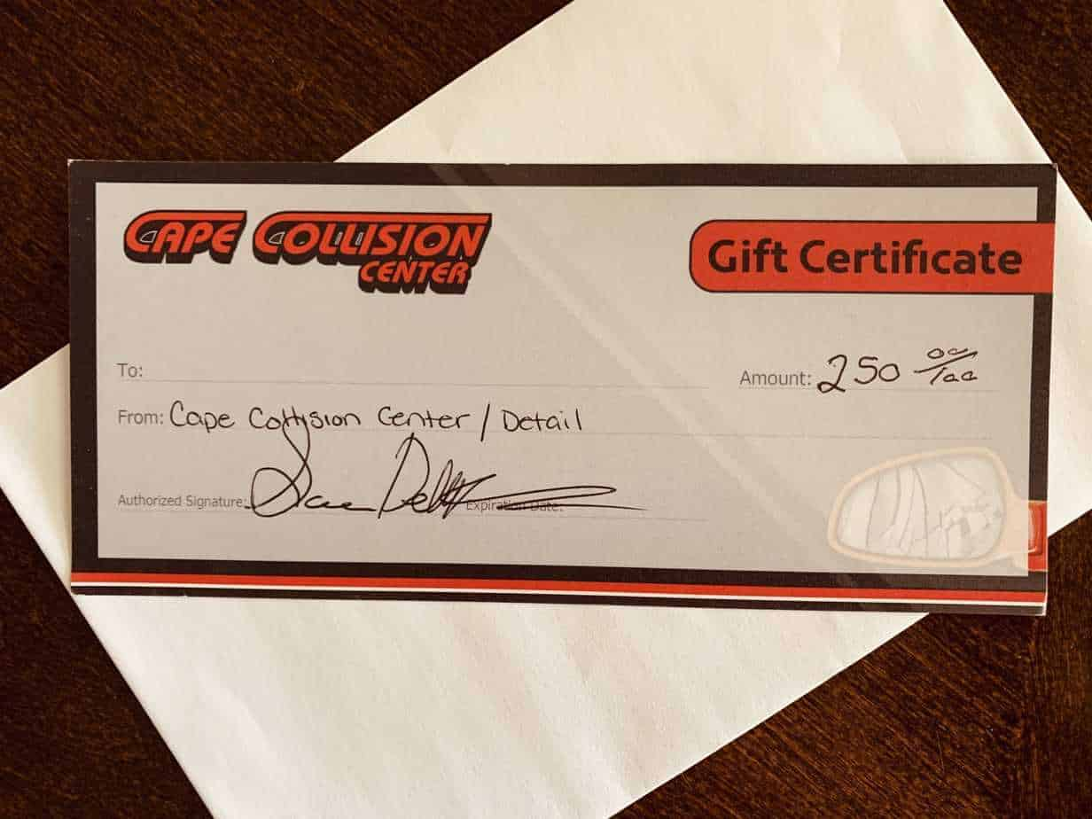 Thank You Cape Collision Center (Sara and Pete)