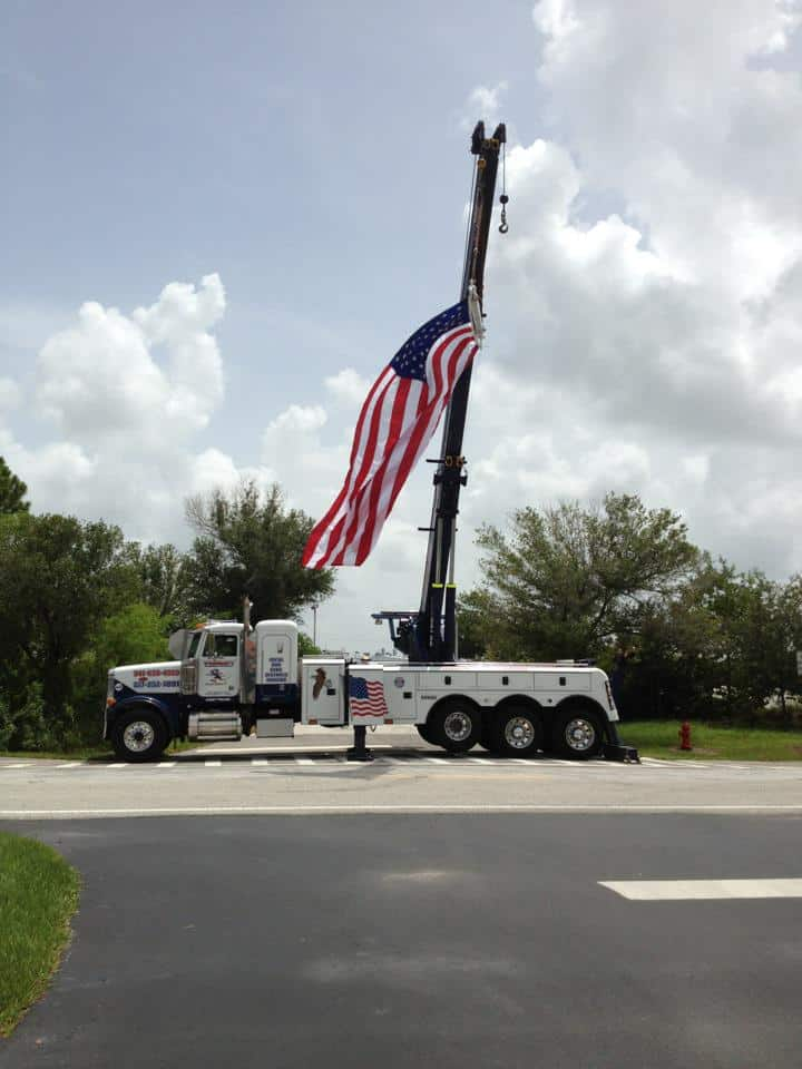 """<span class=""""entry-title-primary"""">Thank You Prompt Towing (Joey)</span> <span class=""""entry-subtitle"""">A BIG Punta Gorda Florida American Flag Welcome</span>"""