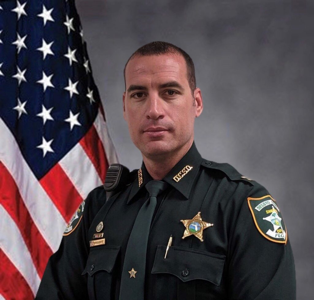 """<span class=""""entry-title-primary"""">Captain Andrew Proudfit</span> <span class=""""entry-subtitle"""">DeSoto County Sheriff"""